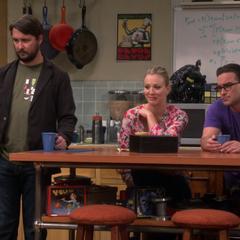 Reacting to Sheldon's interview.