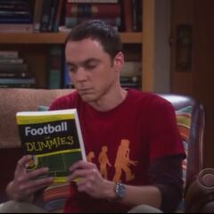 Sheldon knows about football.