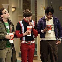 Leonard, Howard and Raj.