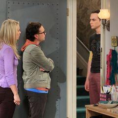 Sheldon asking Leonard to move back in.