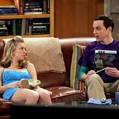 Penny commiserating with Sheldon.