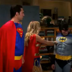 Batman gets punched by Wonder Woman after a sleazy remark.