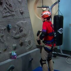 Sheldon trying to climb.