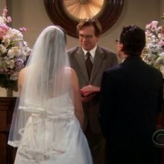 Penny's dream wedding to Leonard.