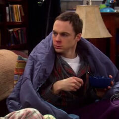 Sheldon and Penny are both sick.