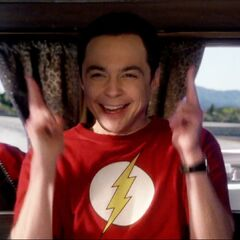 Sheldon excited to find out he will be staying at Richard Feynman's vacation house.