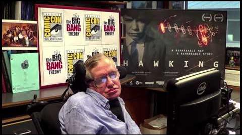 Stephen Hawking Introduces THE BIG BANG THEORY Panel at Comic-Con 2013 WBSDCC