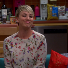 Penny appreciating Sheldon's answers to the intimacy test.