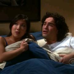 Joyce Kim interrupted by Sheldon.