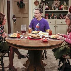 Amy is visiting despite Sheldon's warning to avoid East Texas.