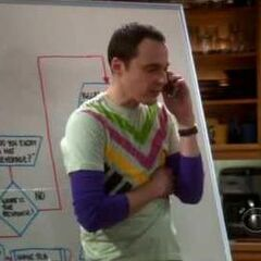 Sheldon working on his friendship with Barry.