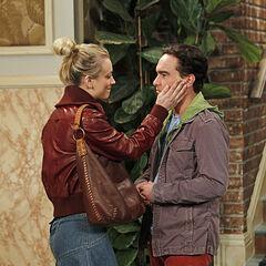 Penny telling Leonard good-bye.