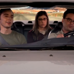 Driving back with Sheldon as he bores them.