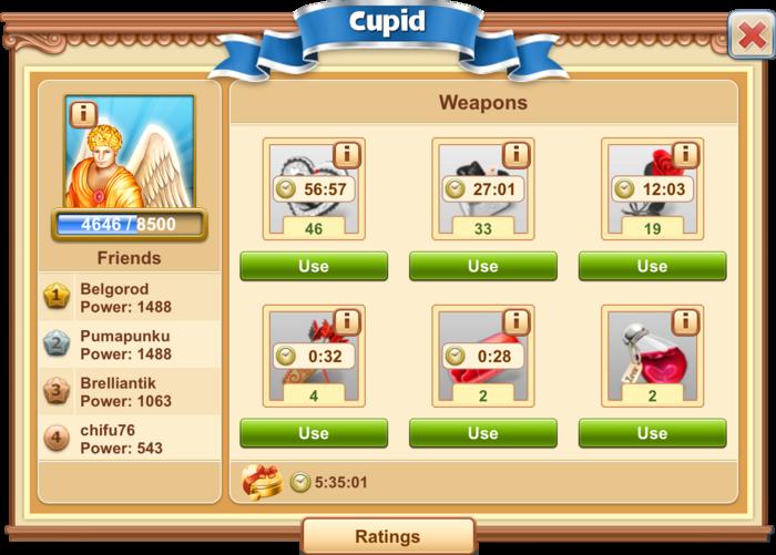 Sample Cupid Boss Fight
