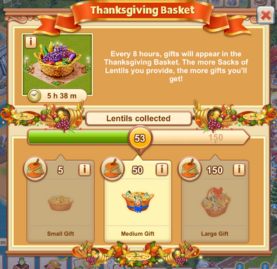 Thanksgiving Basket Collection Window
