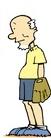 Vern Wright wearing a baseball mitt.