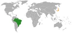 Brazil Japan Locator
