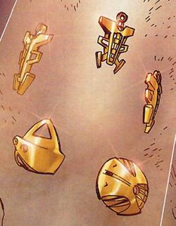 Comic Creation of Golden Armor