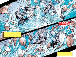 Kopaka Mata using Ice powers