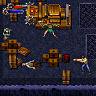 <i>Jack, Mutantlar'la Bomba atar kullanarak savaşırken.</i>