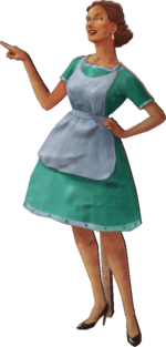 Cut Out Housewive Model Render