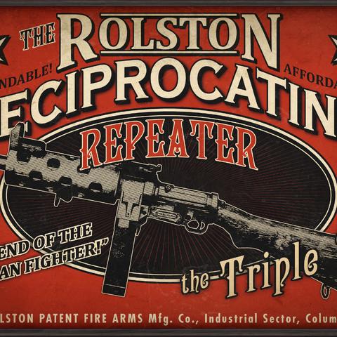 Un anuncio del arma.