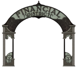 Financial District sign