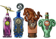 Vigor Bottles concept art by Robb Waters