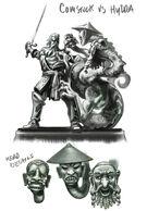 Comstock vs The Hydra Statue Concept