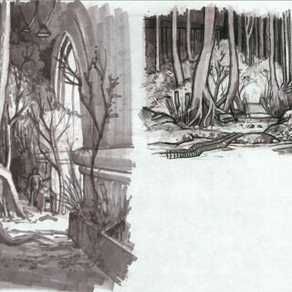 <i>Orman alanı tasarım resmi.</i>