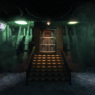 <i>Prometheus Noktası'nın tepesine giden asansör ve <a href=