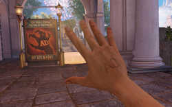 BioShock Infinite - Town Center - Raffle Square - False Shepherd Sign f0817