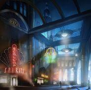 Main street concept art