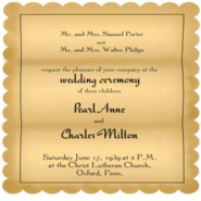 Porter Wedding Invitation