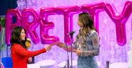 Meredith Foster & Golden Powder Puff Presenter