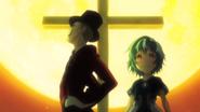 Kagetane and Kohina appears before Rentaro and Enju