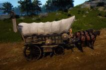 Vehicle farm wagon full