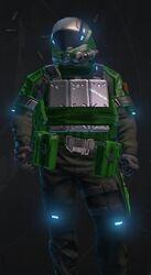 Hardsuit Pilot Green Armor
