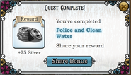 Quest Police and Clean Water-Rewards