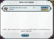 Quest Opera house with friends-Tasks