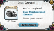 Quest Your neighborhood Chemist-Rewards
