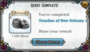 Quest Touches of New Orleans 1-Rewards