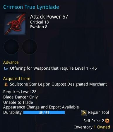 Crimson True Lynblade description