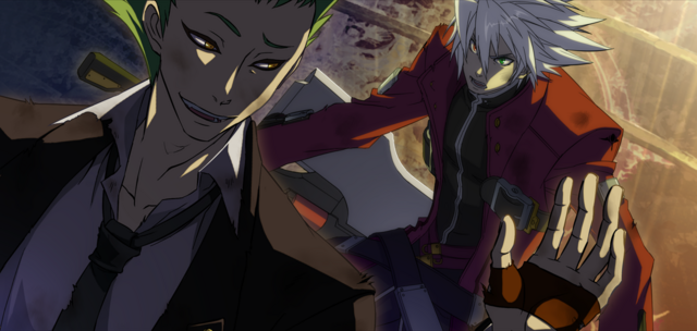 File:Ragna the Bloodedge (Continuum Shift, Arcade Mode Illustration, 1).png