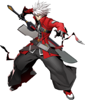 Ragna the Bloodedge (BlazBlue Cross Tag Battle, Character Select Artwork)