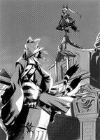 BlazBlue Phase Shift 1 (Black and white illustration, 4)
