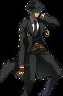Hazama (Story Mode Artwork, Defeated)