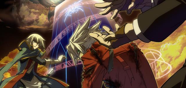 File:Jin Kisaragi (Continuum Shift, Arcade Mode Illustration, 1).png