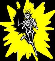 Makoto Nanaya (Sprite, electrocuted)