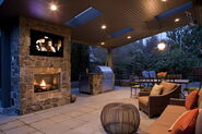 Classic-Fireplace-and-Brown-Sofa-Furniture-Sets-in-Outdoor-Living-Room-Accessories-Design-Ideas